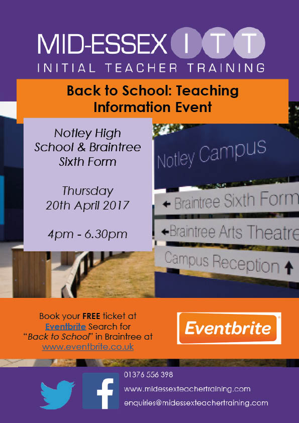Back to School: Teaching Information Event