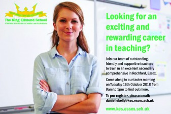 Taster Morning at KES on 16th October