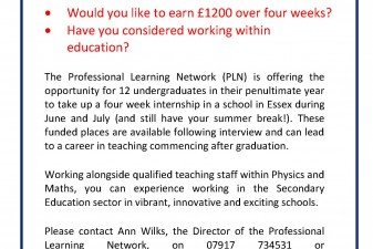 WANTED: Maths & Physics Interns!